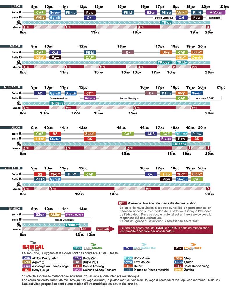 planning USB 2018-2019